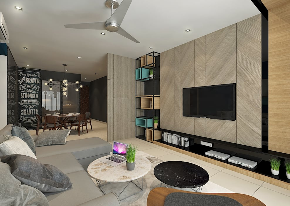 Living Area by Verde Design Lab Scandinavian
