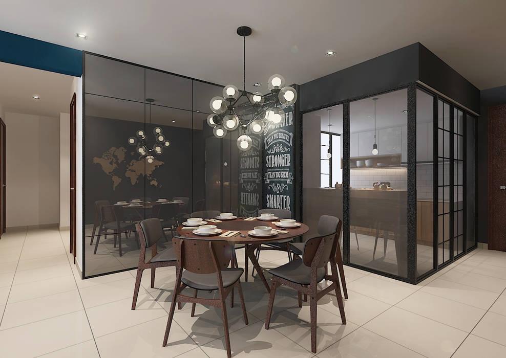 Dining Area Scandinavian style dining room by Verde Design Lab Scandinavian