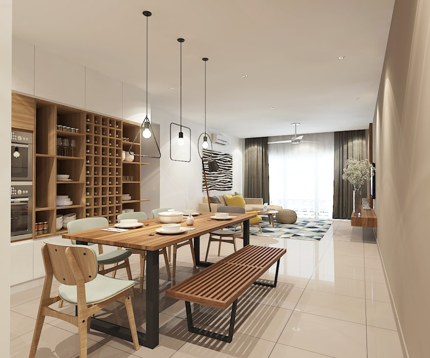 Dining Area :  Dining room by Verde Design Lab ,