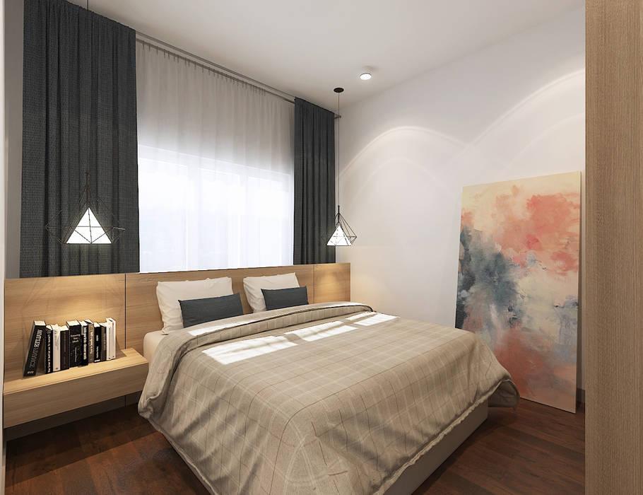 Bedroom Scandinavian style bedroom by Verde Design Lab Scandinavian