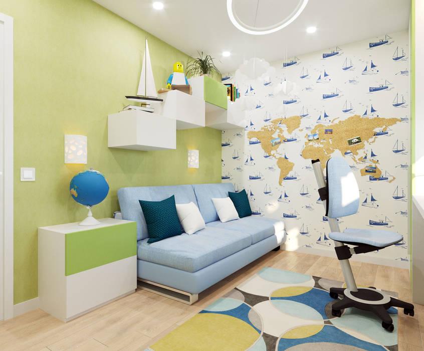 Детская комната для Мальчика от Гузалия Шамсутдинова   KUB STUDIO Скандинавский
