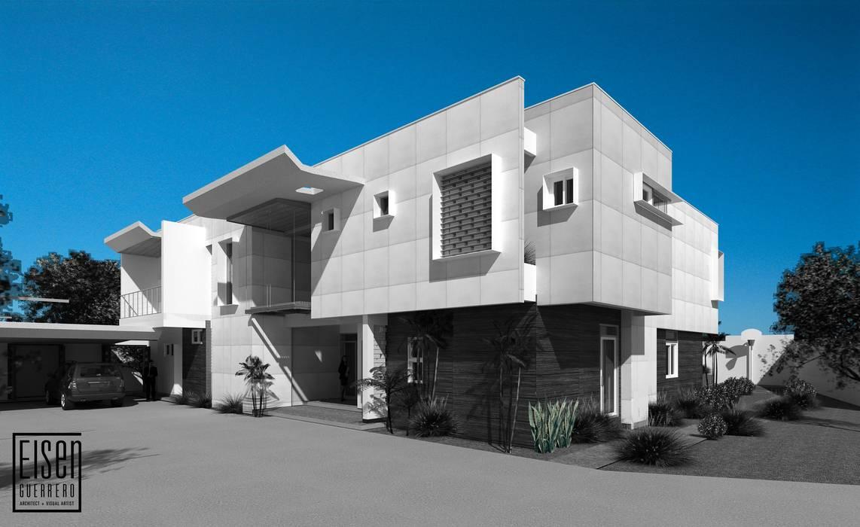Frente: Casas unifamiliares de estilo  por Eisen Arquitecto,