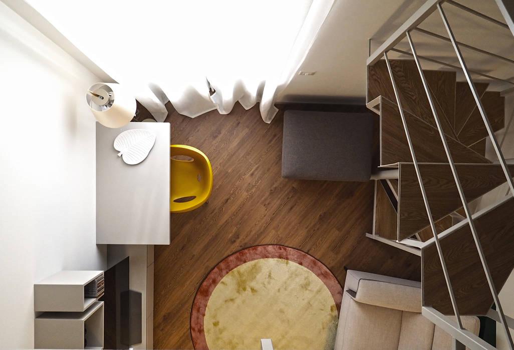 Area studio e living: Pavimento in stile  di bernuzzisamoriarchitetti