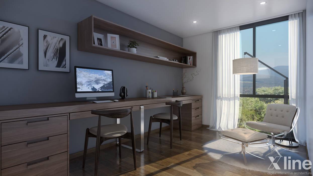 Study/office by Xline 3D, Minimalist