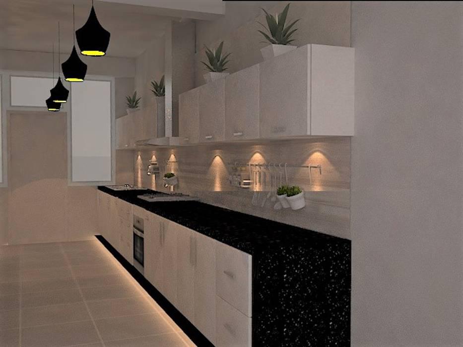 cocina, zona de coccion Cocinas de estilo ecléctico de SindiyFiorella Ecléctico