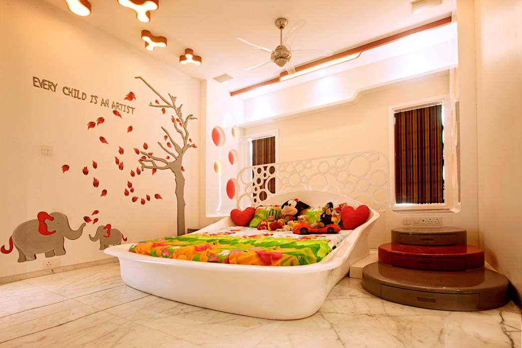 Indra hira bungalow:  Bedroom by Innerspace