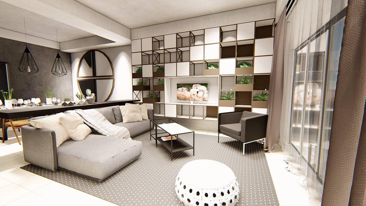 Living Room by LI A'ALAF ARCHITECT Modern
