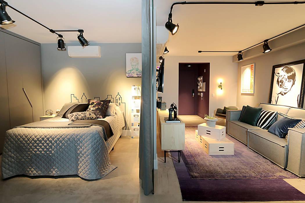 Apartamento Estúdio: Salas de estar  por Duplex212 - Arquitetura e Interiores
