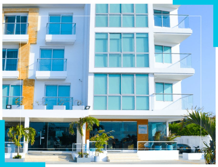 hotel Cuartos de estilo minimalista de construcciones y soluciones integrales s.a.s Minimalista Concreto reforzado