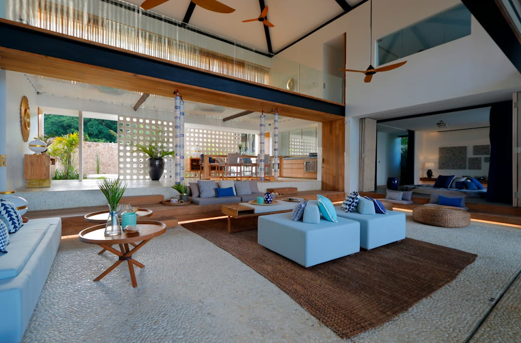 Seascape Villa Living Room :  Living room by Word of Mouth House