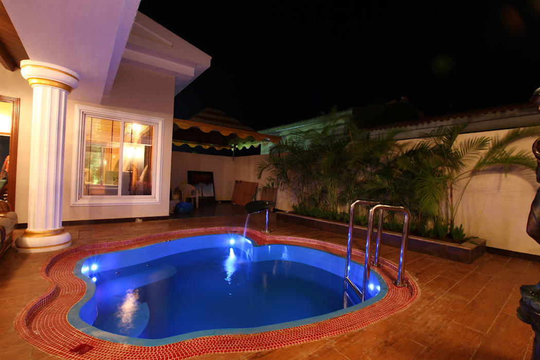 APPLE POOL VILLA Rustic style pool by The Designs Rustic