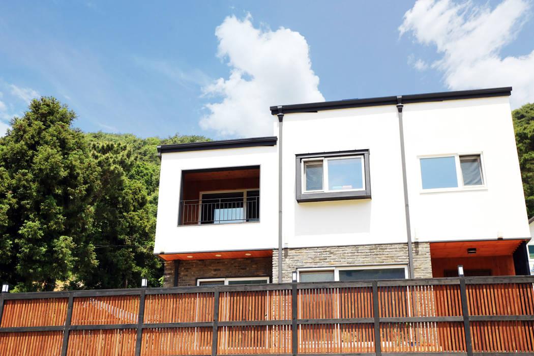 디엘건축 통영 미수동 크리에이트 모델 완공: (주)디엘건축의  목조 주택