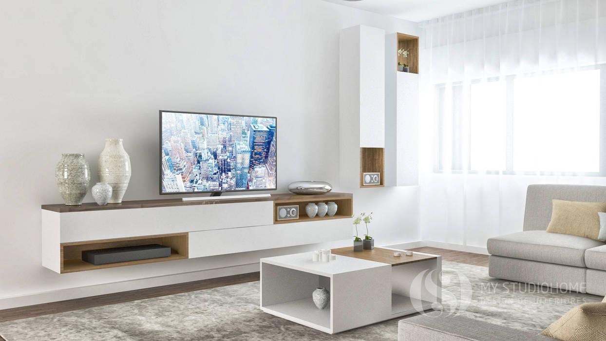 PROJETOS: Sala de Estar: Salas de estar  por MY STUDIO HOME - Design de Interiores