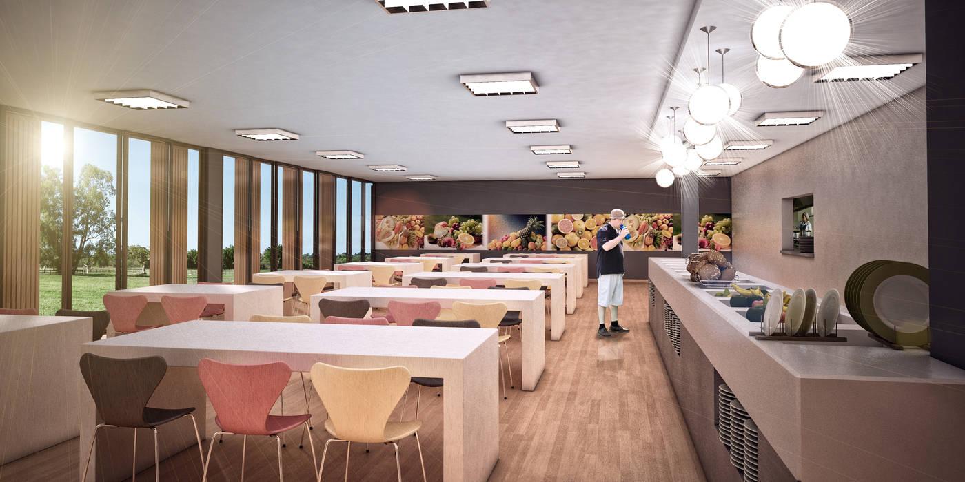 Refeitório: Cozinhas  por CASAGRANDE ARQUITETURA