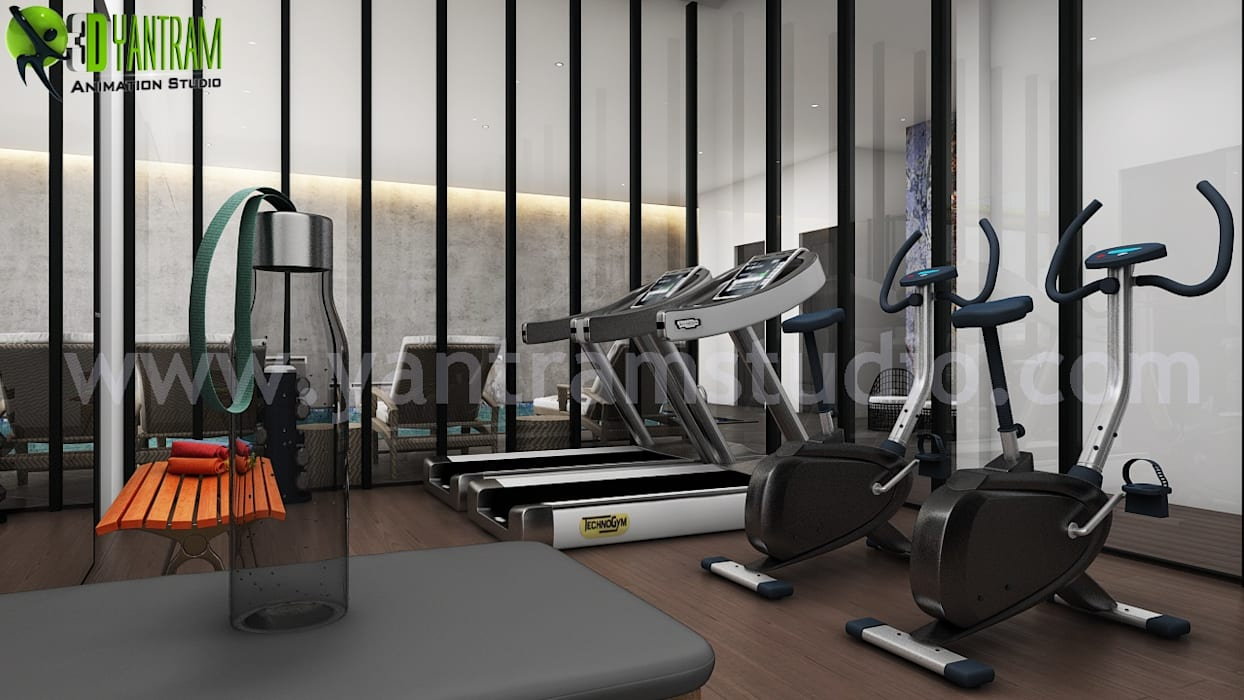 Home gym design ideas picture by yantram architectural design