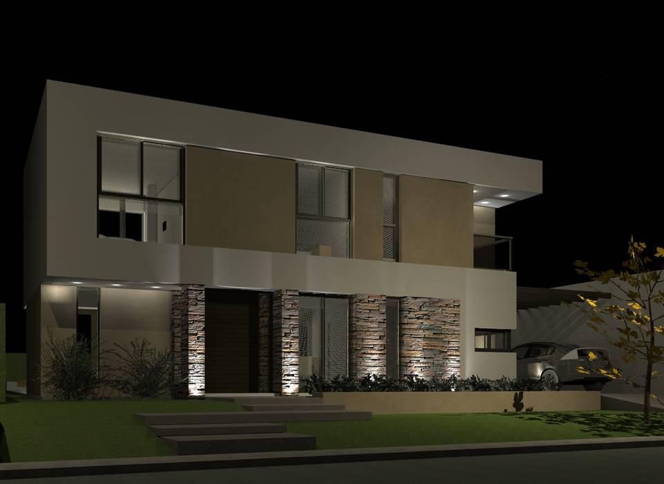 Fachada : Casas unifamiliares de estilo  por BM3 Arquitectos,