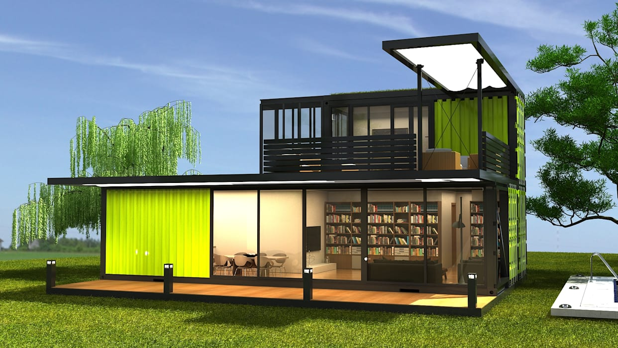 Relativ Fertighaus von next container, modern | homify UP74