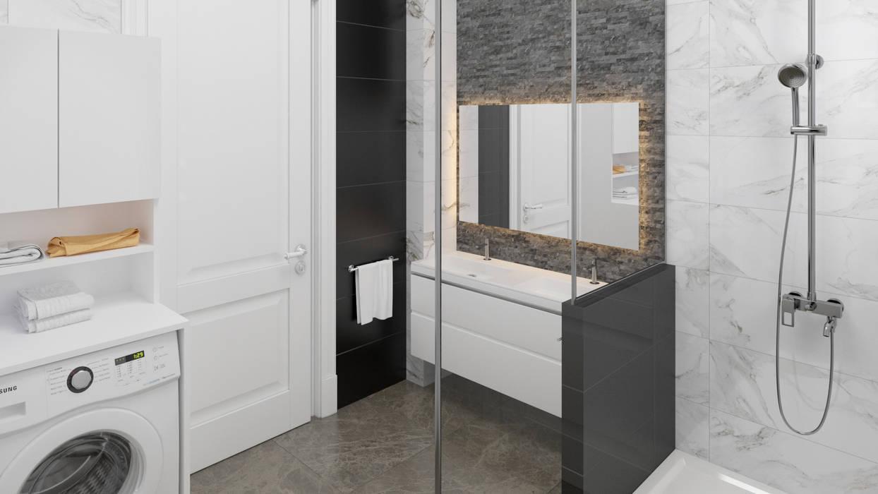 Dündar Design - Mimari Görselleştirme – Villa - İç Mekan:  tarz Banyo
