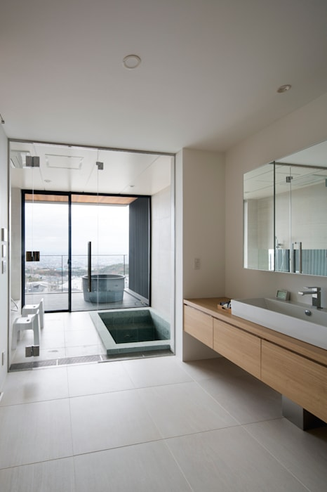 ARCHIXXX眞野サトル建築デザイン室 Asian style bathroom