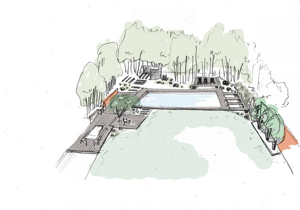 Trente nuances de verts...: Jardin de style  par Paradeisos conception de jardin, Tropical