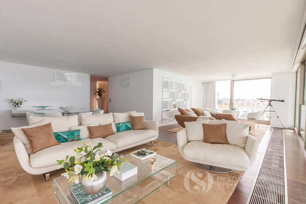 ESPAÇOS: Sala de Estar: Salas de estar  por MY STUDIO HOME - Design de Interiores