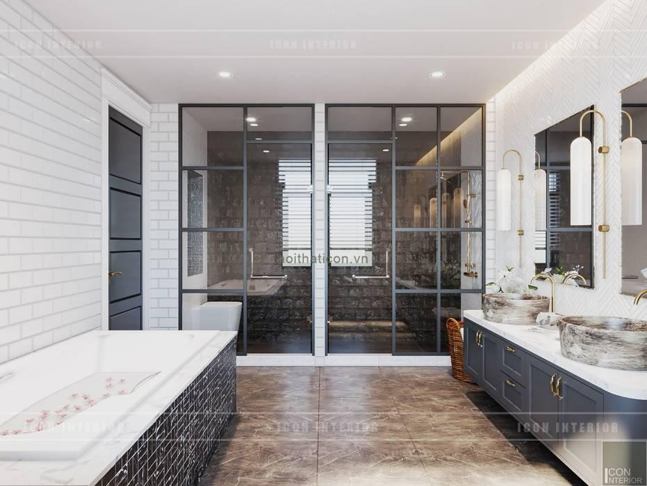 現代浴室設計點子、靈感&圖片 根據 ICON INTERIOR 現代風