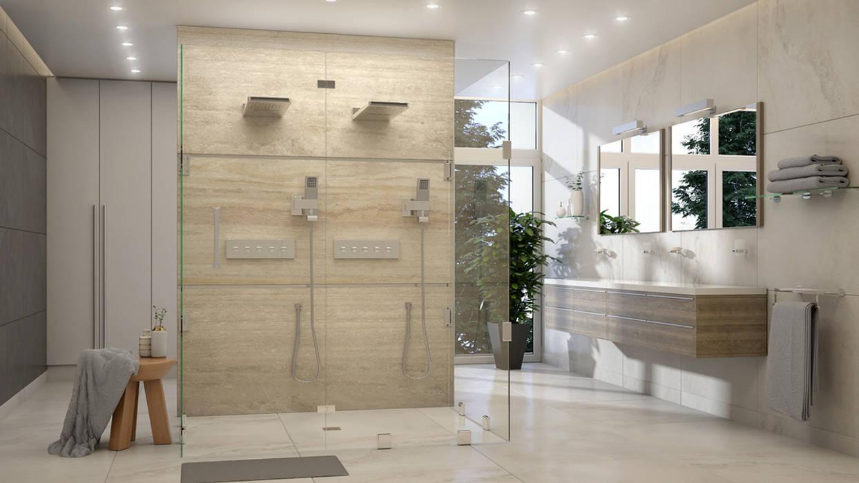 1: Baños de estilo  por Gabriela Afonso, Moderno Mármol