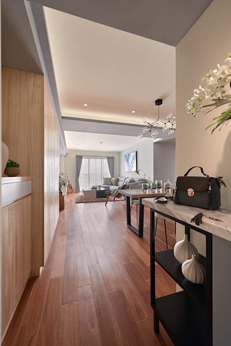 旅途的起點與終點 回家 趙玲室內設計 現代風玄關、走廊與階梯