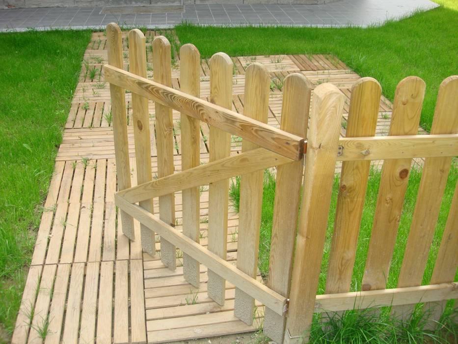 Cancelletto In Legno : Cancello per recinzione piatta cm in pino impregnato