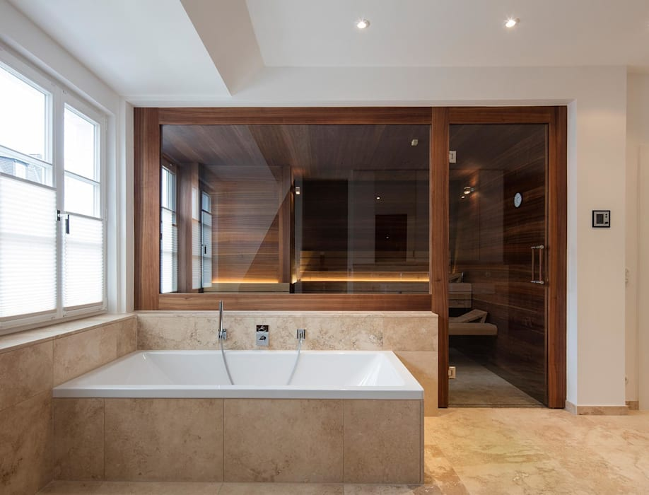 Pure Maßarbeit: Design-Sauna als Möbelstück:  Badezimmer von corso sauna manufaktur gmbh