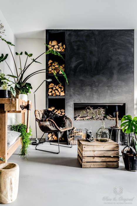 现代客厅設計點子、靈感 & 圖片 根據 Pure & Original 現代風