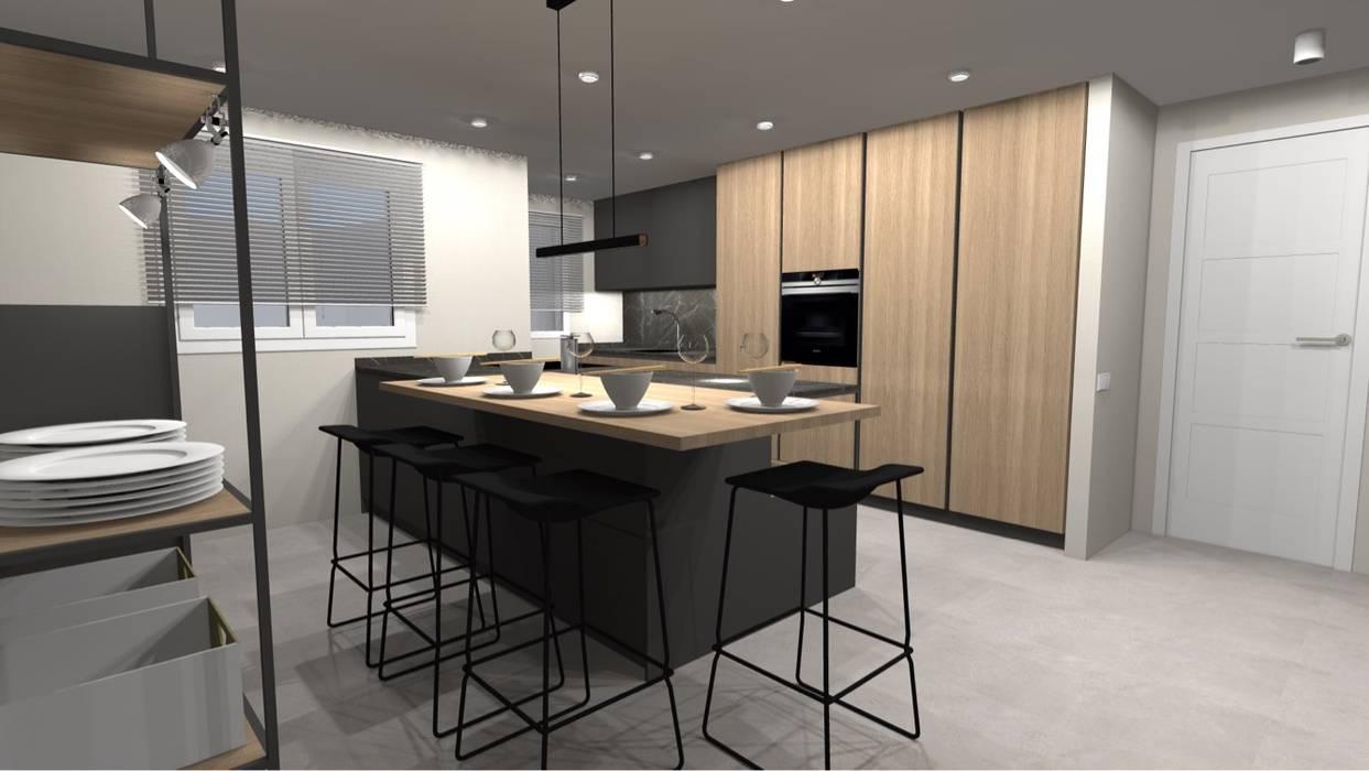 REFORMA INTEGRAL: Módulos de cocina de estilo  de Cid interiores,