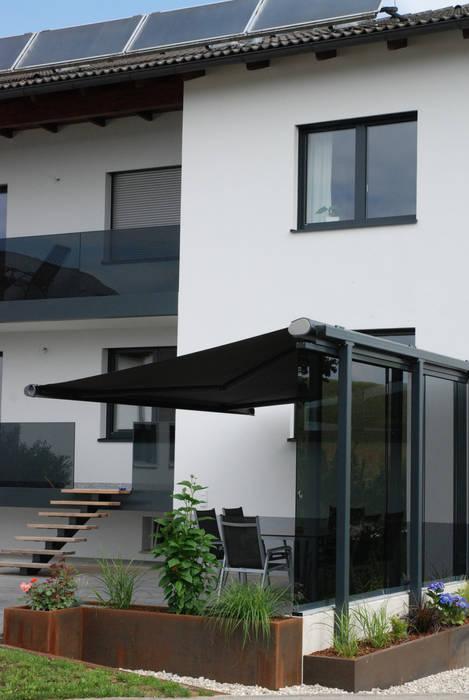 Glasturen Mit Grauem Glas Zum Schieben Terrasse Von Schmidinger
