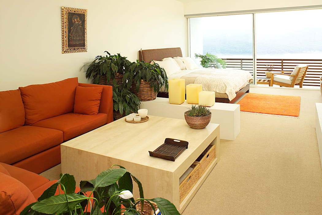 Habitación Principal Dormitorios de estilo moderno de Mayúscula Arquitectos Moderno