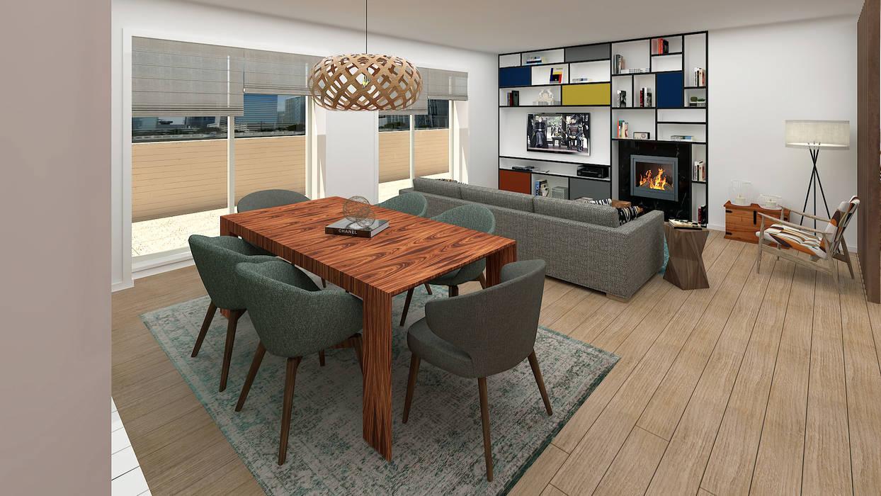 Sala de Jantar: Salas de jantar  por No Place Like Home ®,Moderno