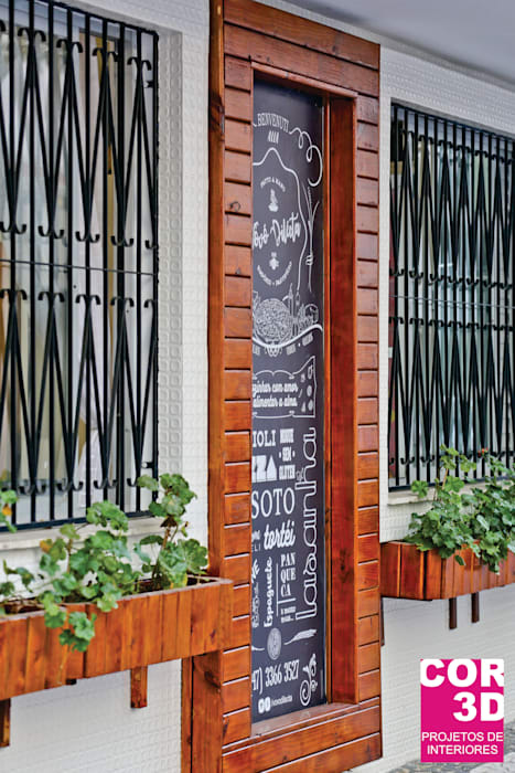 Empório e Pastifício Vovó Dilecta: Espaços gastronômicos  por Cor3D Projetos de Interiores