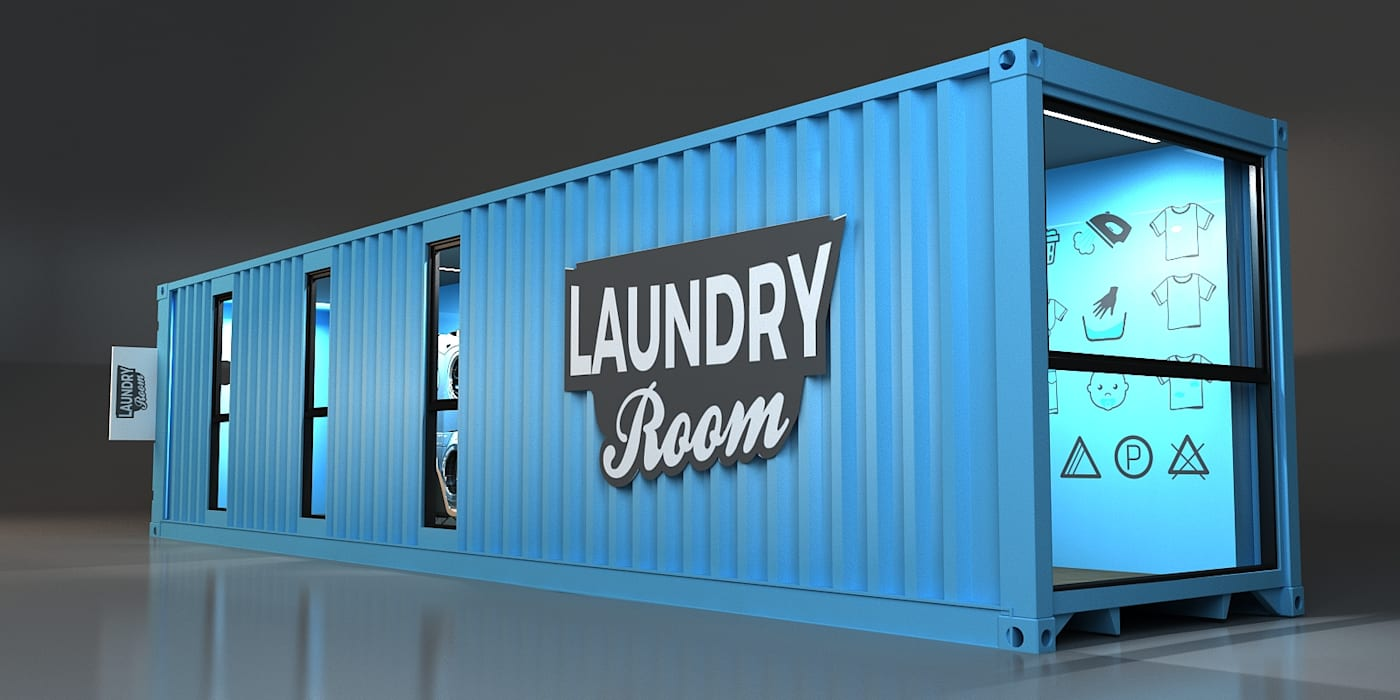 Next Container - 4 Ft Laundry homify Prefabrik ev