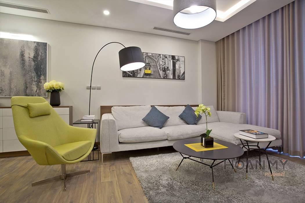 Mẫu không gian căn hộ ngoại Giao đoàn bởi Thương hiệu Nội Thất Hoàn Mỹ Hiện đại
