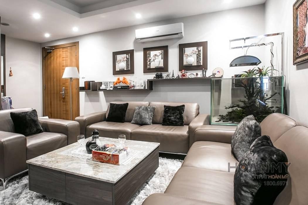 Mẫu nội thất căn hộ chung cư Đê La Thành bởi Thương hiệu Nội Thất Hoàn Mỹ Hiện đại
