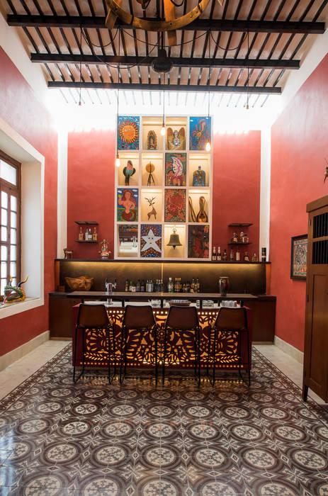 Ruang Keluarga Gaya Kolonial Oleh Taller Estilo Arquitectura Kolonial