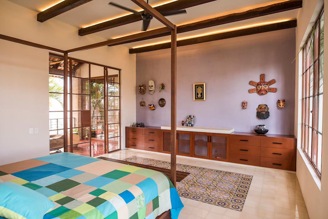 Kamar Tidur Gaya Kolonial Oleh Taller Estilo Arquitectura Kolonial