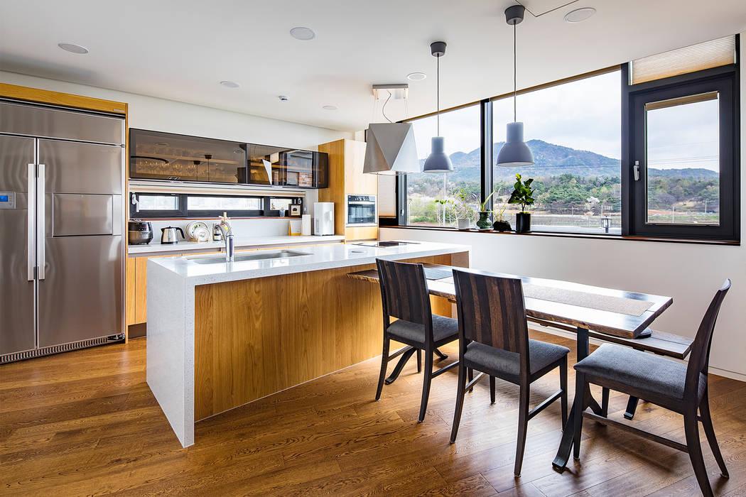 전라북도 익산시 삼기면 기산리 단독주택 신축: 바이제로의  주방,모던