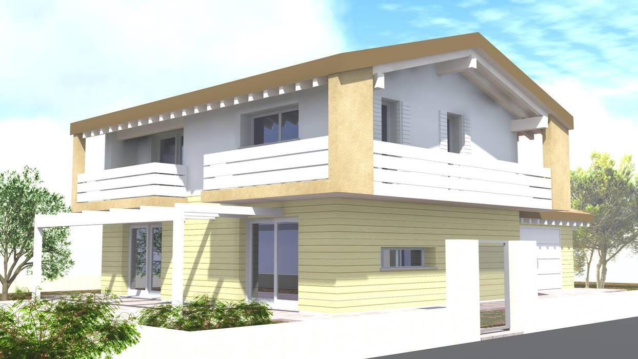 vista tridimensionale RENDER: Casa unifamiliare in stile  di studio arch sara baggio