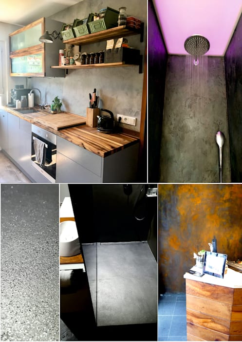 by luanna design Eclectic Concrete