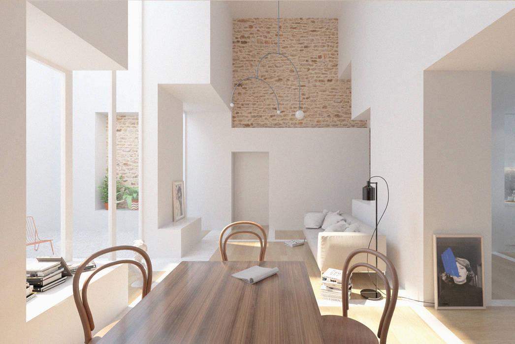 Phòng khách phong cách tối giản bởi Corpo Atelier Tối giản