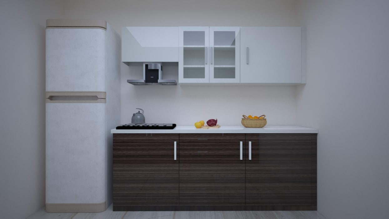 Modular kitchen design (parallel shaped): built-in kitchens by vinra ...