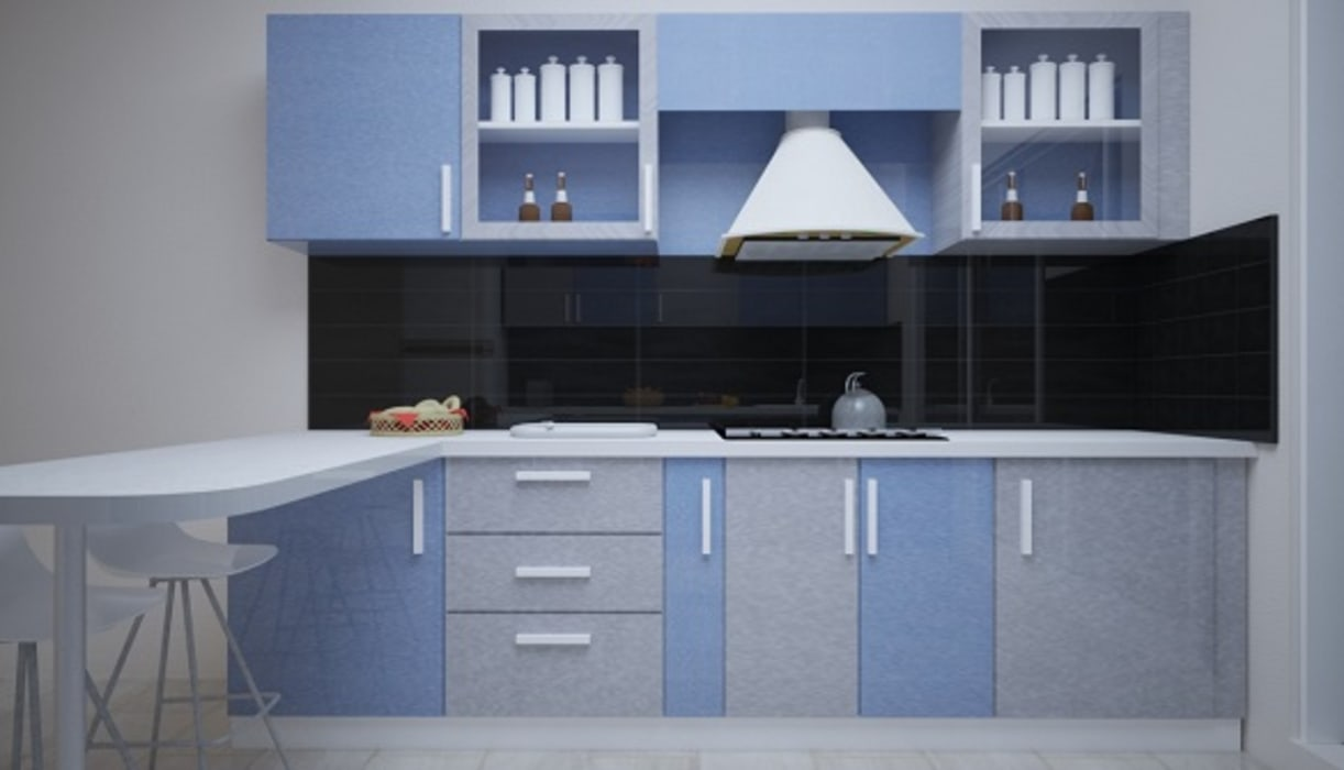 Modular kitchen interior design(parallel shaped) by vinra