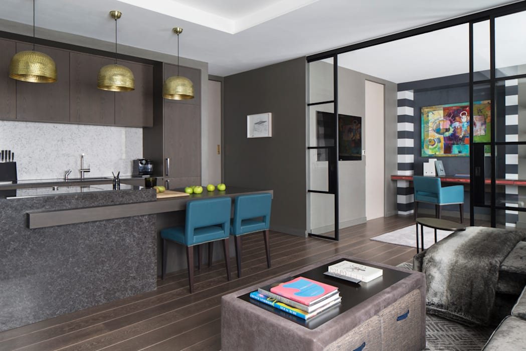 Fitzrovia Apartment Open Plan Living Room And Kitchen Roselind Wilson Design Modern Living Room Homify