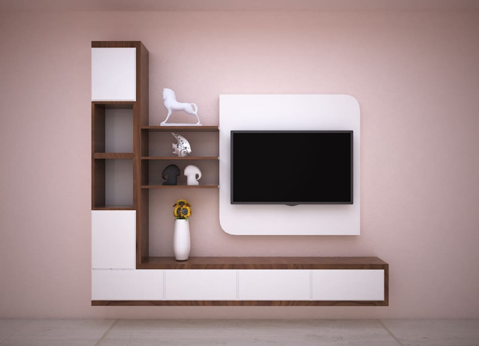 Entertainment Unit Modern living room by Vinra Interiors Modern Plywood