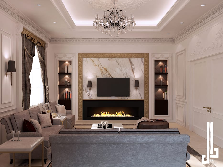 French classical villa:  Living room by dal design office